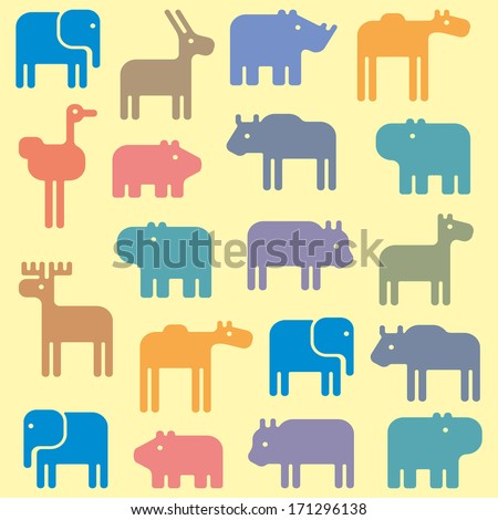 animal pattern - stock vector