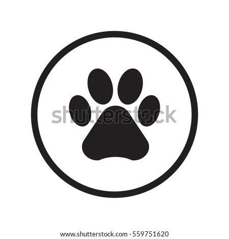 Red dog paw logo - photo#37