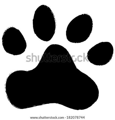 animal paws. vector illustration - stock vector