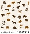 Animal seamless pattern 3 - stock photo