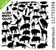 Animal silhouettes vector - stock vector