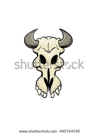 animal skull - stock vector