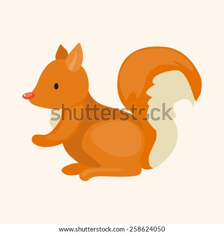 animal squirrel cartoon theme elements - stock vector