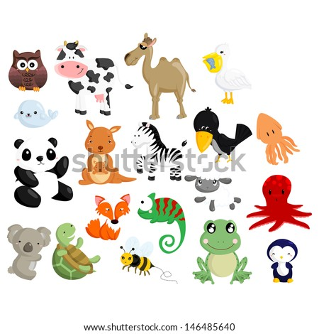 Animal vector set 2 - stock vector