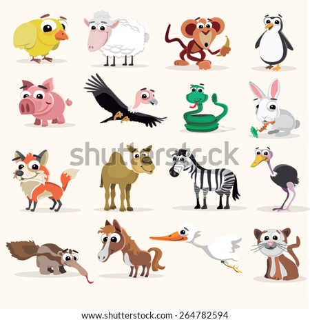 Animal vector set - stock vector