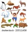 animals - stock vector