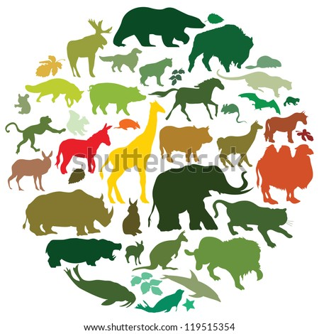 animals - stock vector
