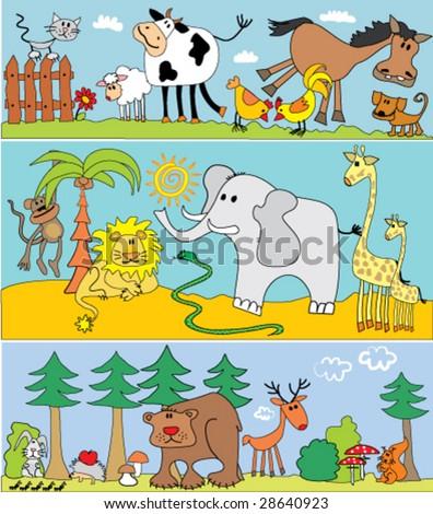 Animals. - stock vector