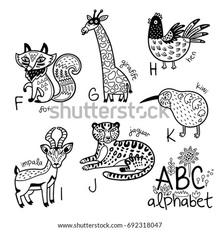 coloring pages animals alphabet youtube - photo#36