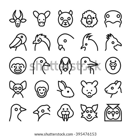 Animals and Birds Vector Icons 9
