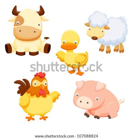 Animals farm - stock vector