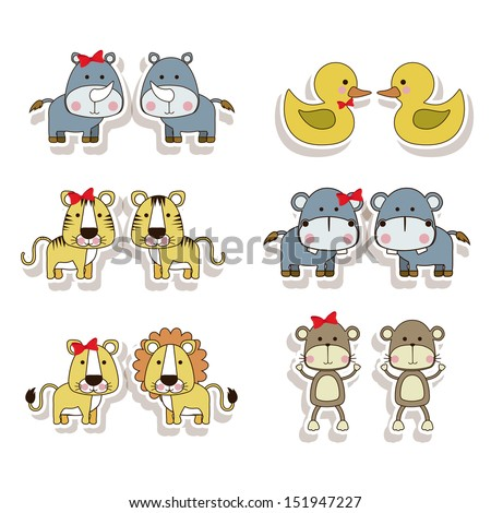 animals icons over white background vector illustration