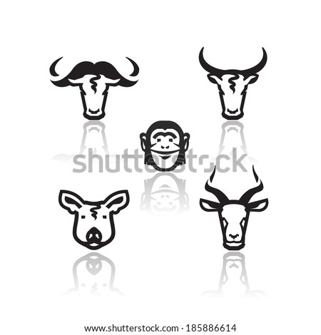 Animals icons. Vector format - stock vector