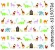 animals pattern - stock vector