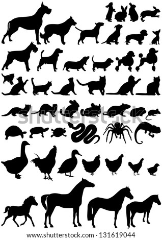 Animals shape - stock vector