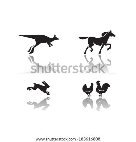 Animals. Vector format - stock vector