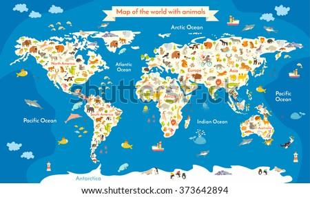 Kids World Map Stock Images RoyaltyFree Images Vectors - Image of world map for kids