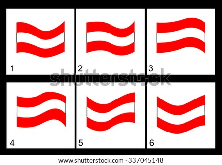 Animation of the Austrian flag Vector frame.