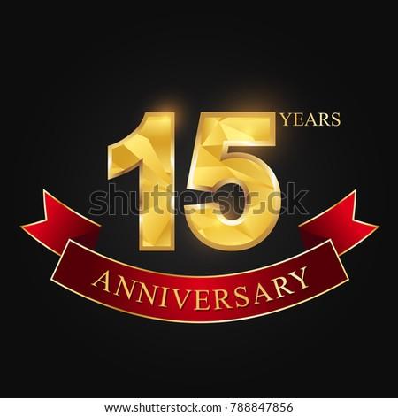Anniversary Anniversary Fifteen Years 15 Years Stock Vector Hd