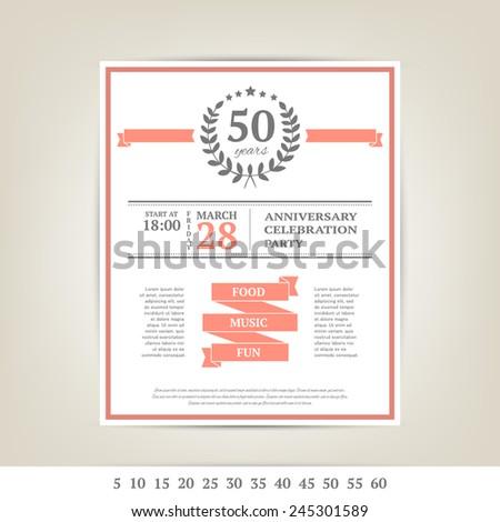 anniversary card template