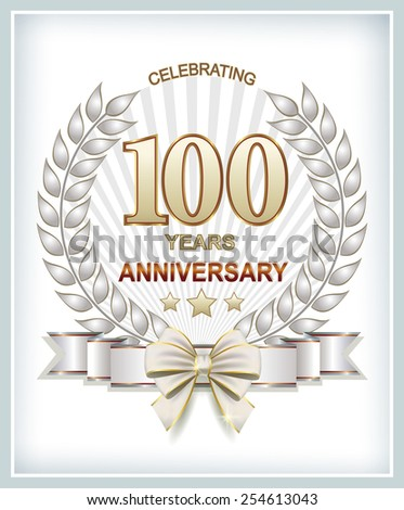 Anniversary card 100 years