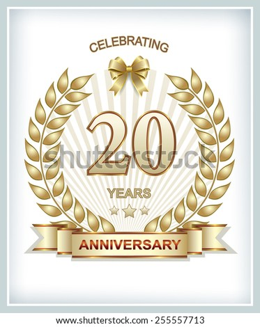 Anniversary card 20 years