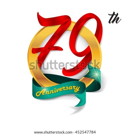 Anniversary emblems 79 anniversary template design