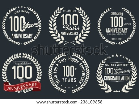 Anniversary laurel wreath design,  100 years