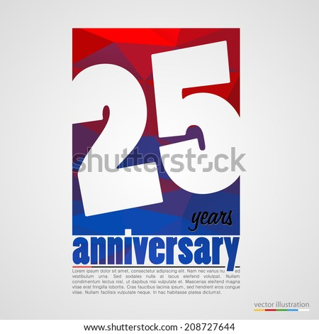 Anniversary modern colorful abstract background. Vector illustration - stock vector