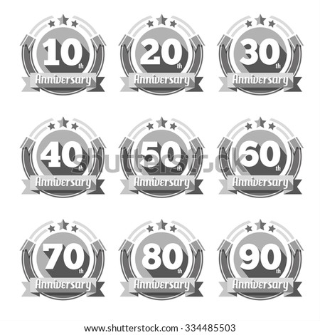 anniversary signs vector set sign element stock vector 334485503