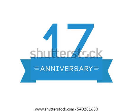 Anniversary seventeen label mark icon element stock vector 540281650 anniversary to seventeen label mark icon element ribbon greeting cards banners and m4hsunfo