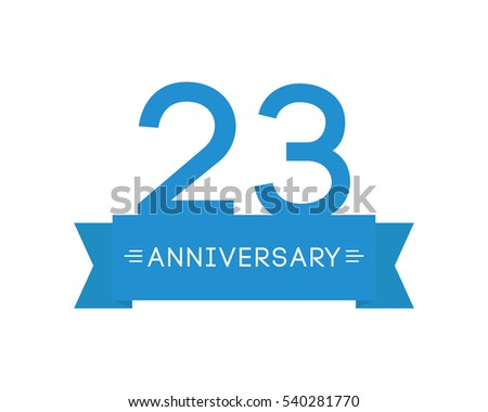 Anniversary twentythree years label icon element stock vector anniversary to twenty three years the label icon element ribbon greeting cards m4hsunfo