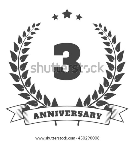 Anniversary vintage badge and logo