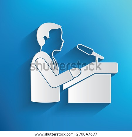 Announce,human resource design on blue background,clean vector