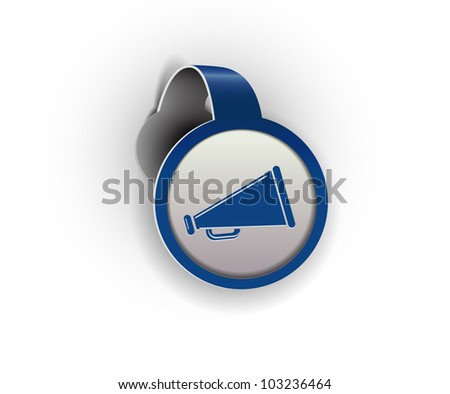 announcement hanging sticker icon, vector - stock vector