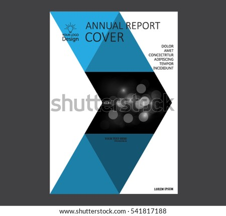 blue annual report title page sample stock vector 435919039 shutterstock. Black Bedroom Furniture Sets. Home Design Ideas