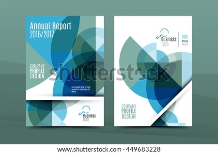 Annual Report A4 page cover, leaflet brochure flyer template or book and magazine layout design, abstract background presentation template - stock vector