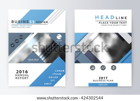 Layout Design Template Annual Report Brochure Stock Vector