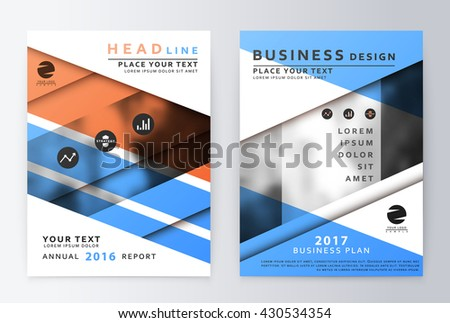 Annual Report Brochure Business Plan Flyer Stock Vector