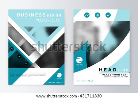 Blue Annual Report Brochure Flyer Design Stock Vector 403044511