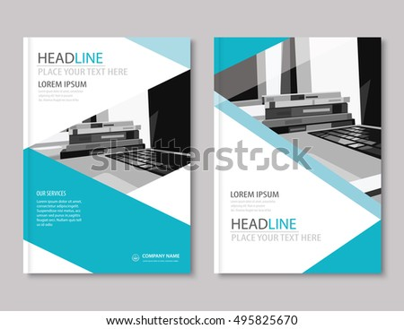 Annual report brochure flyer design template stock vector 495825670 annual report brochure flyer design template company profile business headlineleaflet cover presentation flat wajeb Image collections