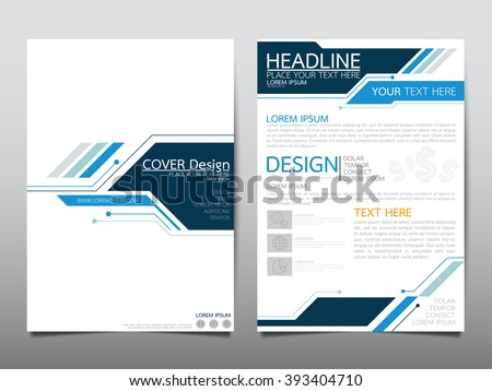 Annual report brochure flyer design template vector, Leaflet cover presentation abstract technology background, layout in A4 size - stock vector