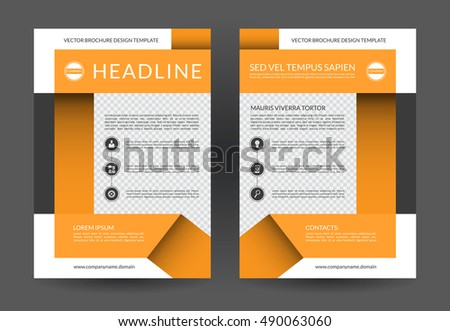 annual report brochure flyer layout template a4 size front and back page can