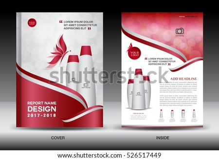 Annual Report Brochure Flyer Template Red Stock Vector