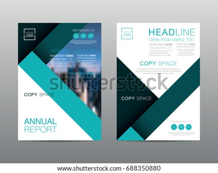 Gray Corporate Business Annual Report Brochure Stock Vector