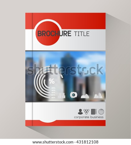 Annual report business statistics template for magazine, brochure, booklet. - stock vector