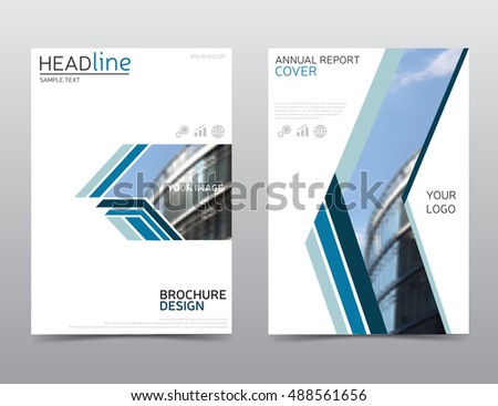 Annual Report Cover Brochure Design Flyer Stock Vector 488561656