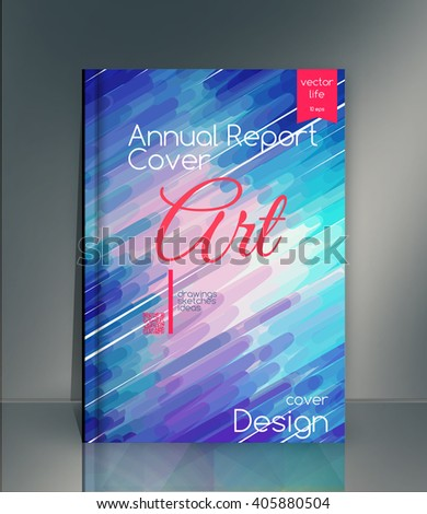 Annual report cover. Cover design. Cover for the company's environmental, energy, and environmental organizations. Vivid Parallel lines forming picturesque texture. Annual report cover. Creative cover - stock vector