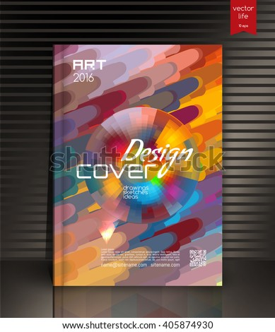 Annual report cover. Creative cover. The effect of bright light. Cover for the company's environmental, energy, and environmental organizations. Vivid Parallel lines forming picturesque texture.  - stock vector