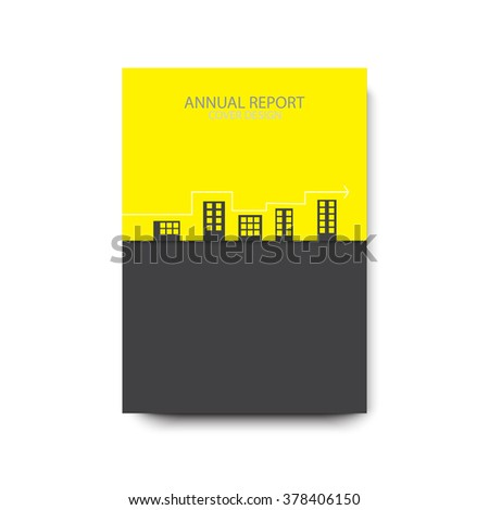 Annual report cover design, modern abstract brochure, A4, material design,  vector illustration